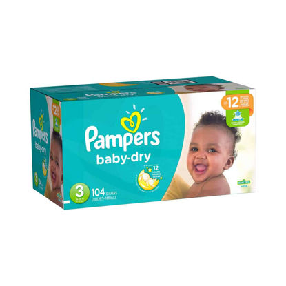 Picture of PAÑALES DESECHABLES PAMPERS BABY DRY TALLA 3 - 104 UNIDADES