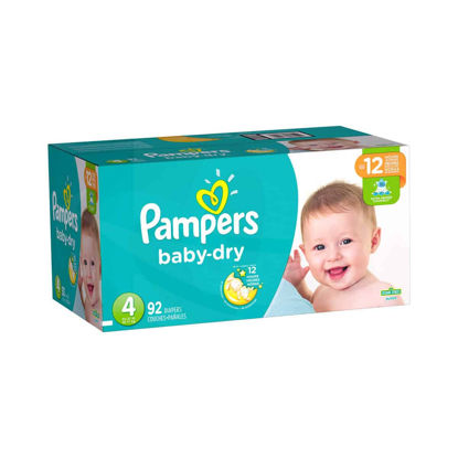 Picture of PAÑALES DESECHABLES PAMPERS BABY DRY TALLA 4  -  92 UNIDADES