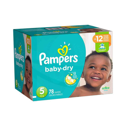 Picture of PAÑALES DESECHEBLE PAMPERS BABY DRY TALLA 5 - 78 UNIDADES